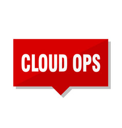 Cloud ops red tag vector