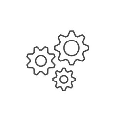 cogwheels or gears line outline icon vector image