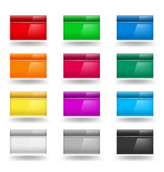 color set of computer windows on white vector image
