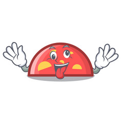 Crazy semicircle mascot cartoon style vector