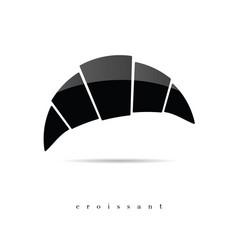 Croissant icon in black vector