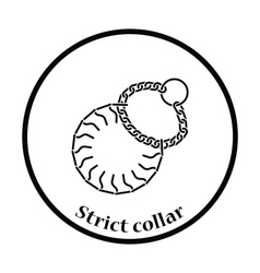 Dogs strict collar icon vector