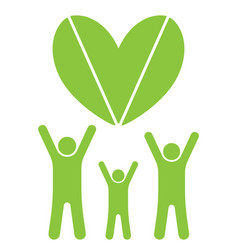 eco family and heart vector image
