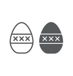 Egg masturbation line and glyph icon sex toy vector