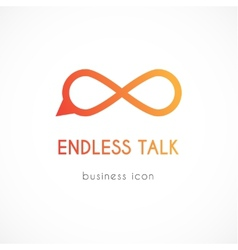 Endless talk symbol icon vector image