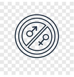 Equality concept linear icon isolated on vector