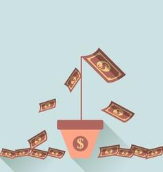 Financial crisis symbol vector