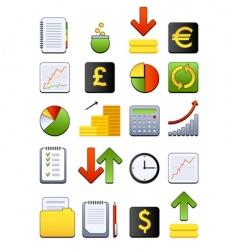 Financial web icon vector