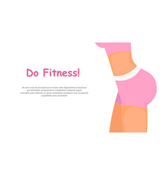 fitness girl body in pink vector image
