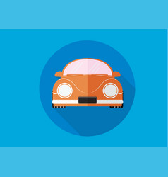 flat long shadow car vector image