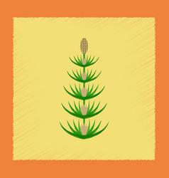 flat shading style icon wild flower equisetum vector image