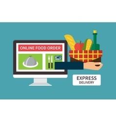 Food delivery online internet order Flat vector