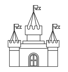Fortress icon in outline style vector image