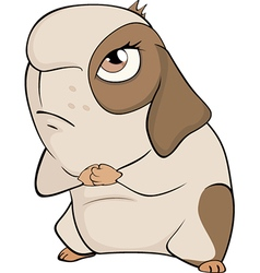 Funny brown guinea pig cartoon vector