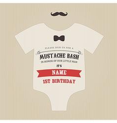 Funny vintage babirthday invitation vector