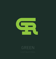 g and r initial logo gr - design element or icon vector image