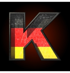 Germany cutted figure k vector