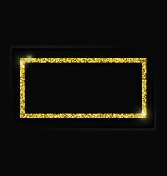 Gold square frame or golden luxury rectangular vector