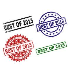 Grunge textured best of 2015 stamp seals vector