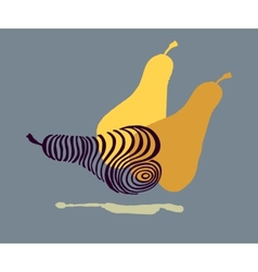Hand drawing stylized beautiful pears vector