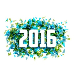 Happy New year 2016 triangle abstract background vector