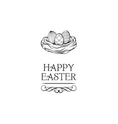 hapy easter label vector image
