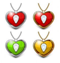 Heart shaped necklace vector