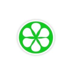 Icon sticker realistic design on paper orange vector