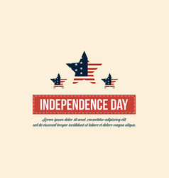 independence day background flat vector image