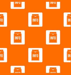 info folder pattern seamless vector image