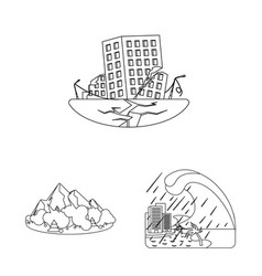 Isolated object of natural and disaster sign vector