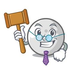 Judge golf ball mascot cartoon vector
