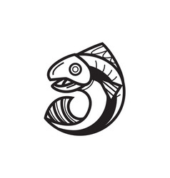 Jumping fish out of the water vector