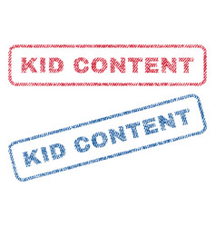 Kid content textile stamps vector