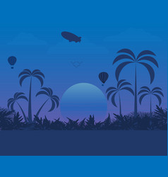 Landscape design of nature in the evening vector