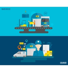 Logistic Banner Set vector image