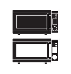 microwave oven icon flat sign vector image