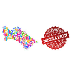 Migration composition of mosaic map of vector