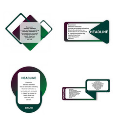 modern elements infografics template for your vector image