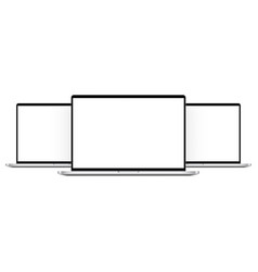 modern laptop computers mockups isolated vector image