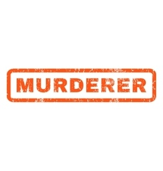 Murderer Rubber Stamp vector