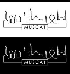 Muscat city skyline linear style editable file vector