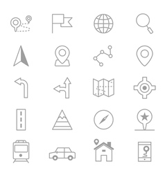 Navigation and location Icons Line Set Of copy vector