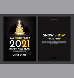 new 2021 year party flyer template with gold vector image