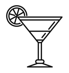 orange cocktail icon outline style vector image