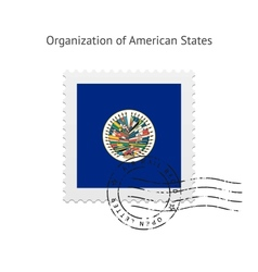 Organization of American States Flag Postage Stamp vector