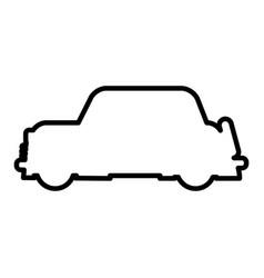 outlined car vehicle transport modern desing vector image