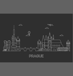 prague skyline czech republic vector image