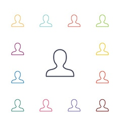 profile flat icons set vector image
