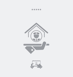 protection services - web icon vector image